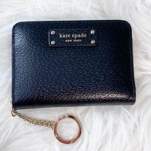 Kate Spade BLACK small continental wallet 😊